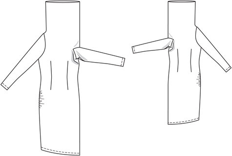 Funnel Neck Dress 04/2014 #112