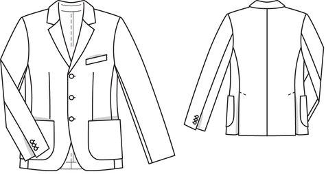 Men's Linen Jacket 4040 40 Sewing Patterns BurdaStyle Cool Mens Coat Patterns