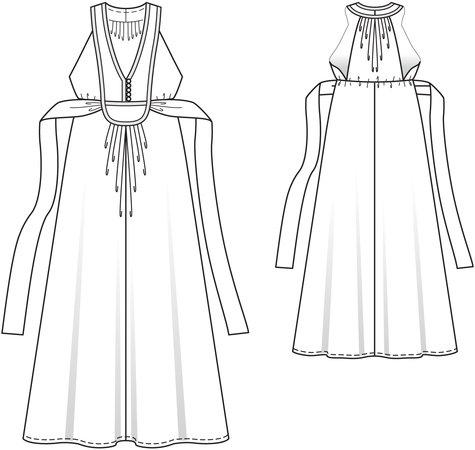 Island Placket Dress 04/2014 #121