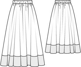 Color Block Maxi Skirt 05/2010 #117