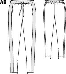 Drawstring Pants (Plus Size) 08/2014 #138A