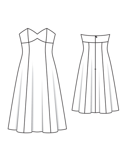 Strapless Bustier Designer Dress 02/2011 #165