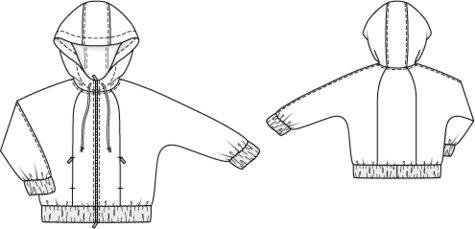 Hooded Sweatshirt (Plus Size) 11/2011 #132