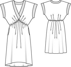 Kimono Sleeve Dress (Plus Size) 12/2014 #140 – Sewing Patterns ...