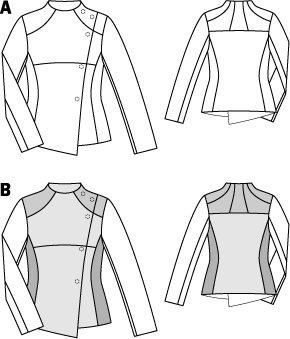 Asymmetrical Front Paneled Jacket 01/2015 #104B
