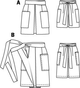 Box Pleat Patch Pocket Skirt 02/2015 #109B
