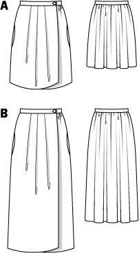 Wrap Pleated Skirt 02/2015 #121A