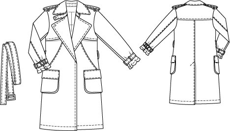 3892ef0d1c4 Classic Trench Coat (Plus Size) 03 2015  128 – Sewing Patterns ...
