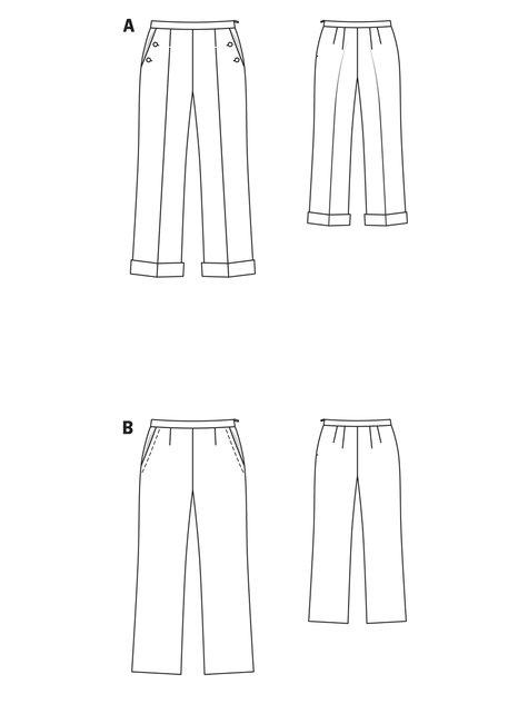 Linen Trousers (Plus Size) 02/2010 #135C