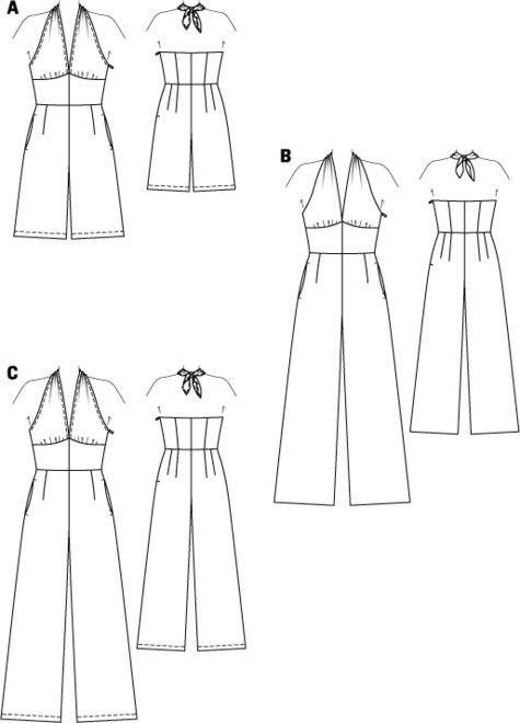 Halter Jumpsuit 06/2015 #119B – Sewing Patterns | BurdaStyle.com