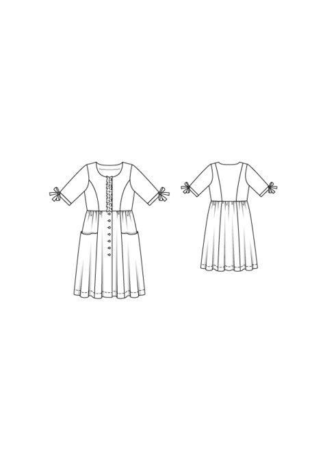 94775390adf Pocket Shirt Dress (Plus Size) 05 2016  127 – Sewing Patterns ...
