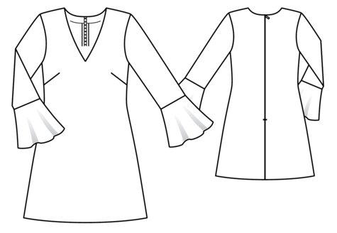 Bell Sleeve Dress 4040 140 Sewing Patterns BurdaStyle New Bell Sleeve Dress Pattern