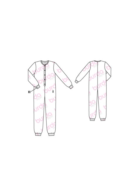 Onesie Pajamas 12/2016 #130 – Sewing Patterns | BurdaStyle.com