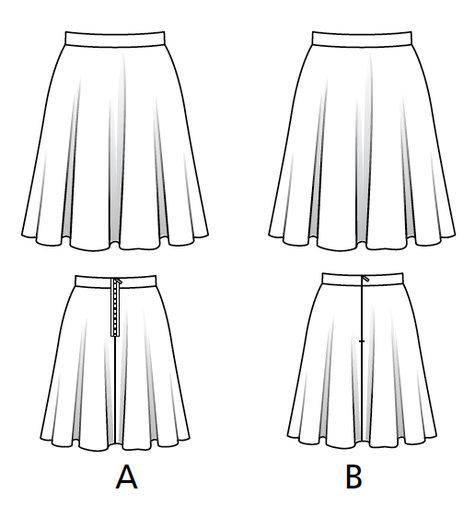 Easy Circle Skirt 02 2017 112a Sewing Patterns Burdastyle Com