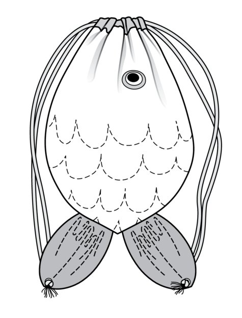 Fish Shape Sport Bag 07/2017 #130