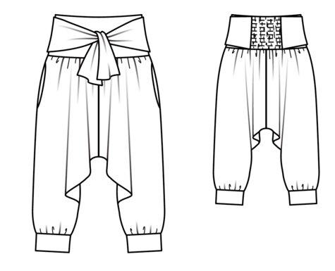 dee58c6415f Yoga Harem Pants 01/2018 #104 – Sewing Patterns | BurdaStyle.com
