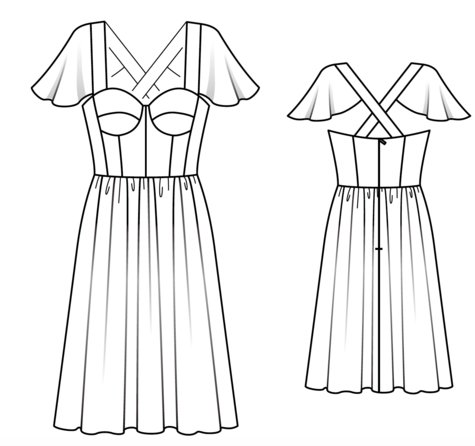 corset dress 05/2018 112  sewing patterns  burdastyle