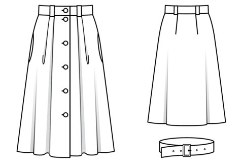 Button Front Skirt 06/2019 #113 – Sewing Patterns ...