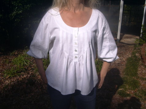 White Peasant Blouse – Sewing Projects | BurdaStyle.com