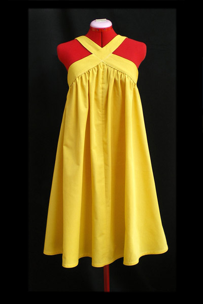 Sunny Yellow Tent Dress Sewing Projects Burdastyle Com