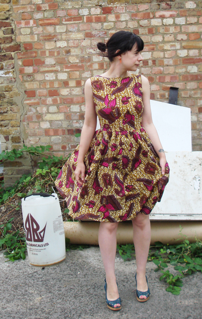 1950s Dress With African Fabric Sewing Projects