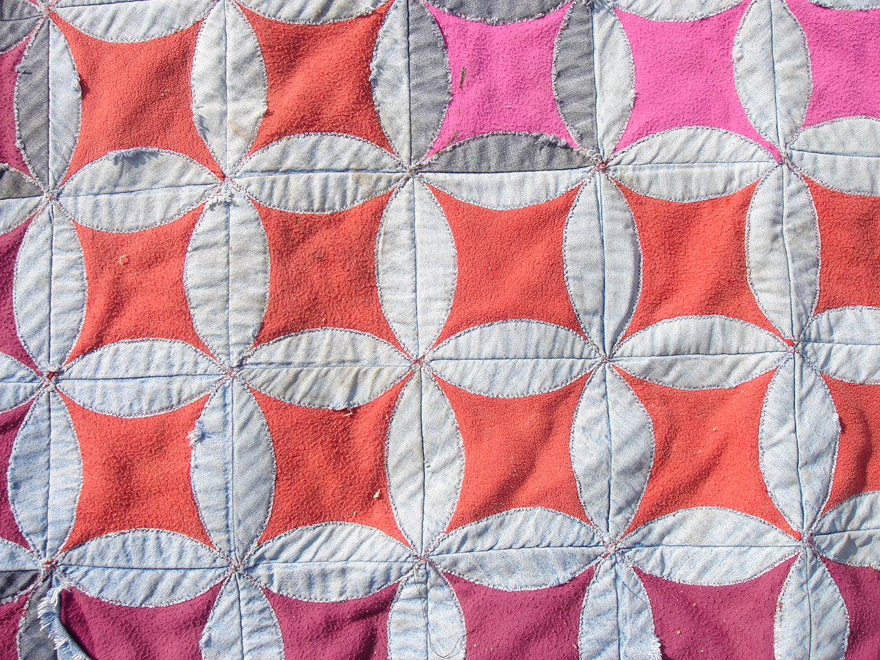 Denim Circle Quilt Sewing Projects Burdastyle Com