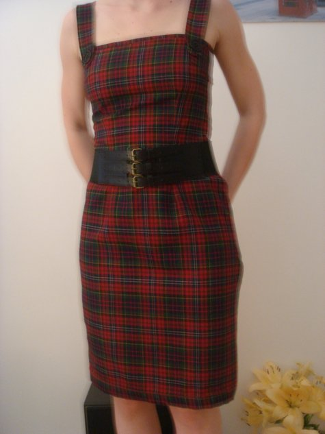 Tartan pinafore dress – Sewing Projects | BurdaStyle.com