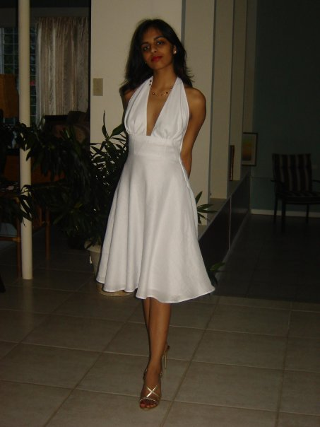 Marilyn Monroe White Halter Dress