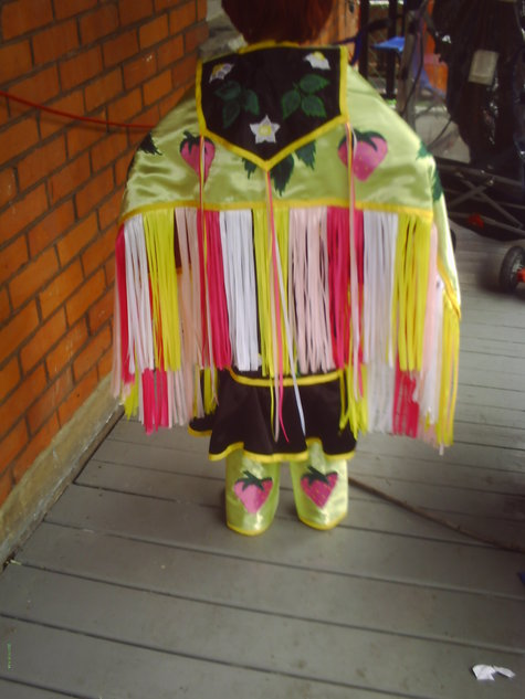Strawberry Fancy Shawl Powwow Regalia Sewing Projects