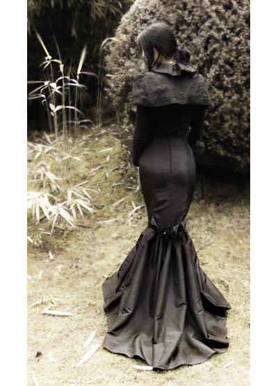 Adrienne Dramatic Ruffle Train Fishtail Skirt Sewing