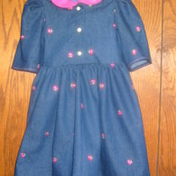Denim_dress_with_pink_embroidered_flower_with_matching_handbag_002_listing