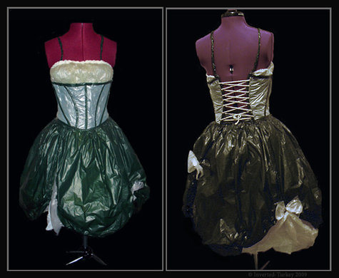 plastic bag corset dress  sewing projects  burdastyle