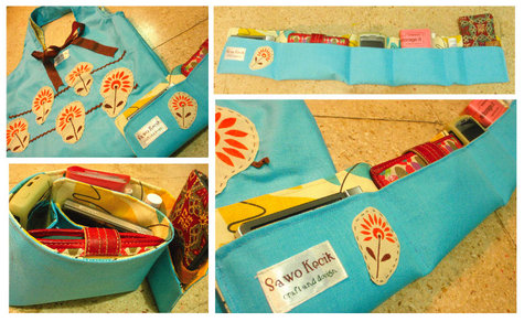 A Charlie Bag With A Matching Purse Organizer Sewing Projects