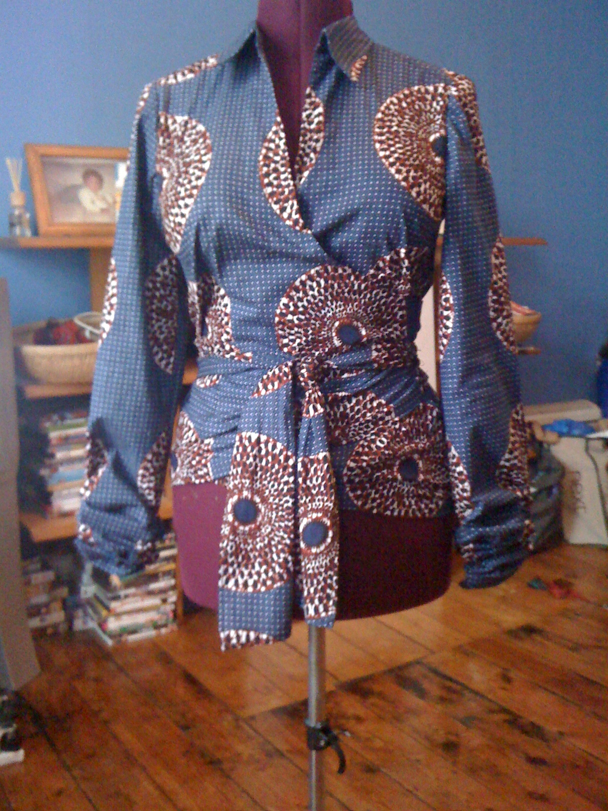 The Long Awaited Ankara Wrap Top Sewing Projects