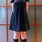 Robe_blouse_marine_grid