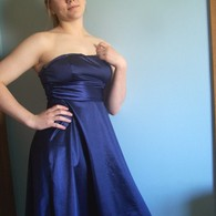 Tea_length_blue_strapless_dress_listing