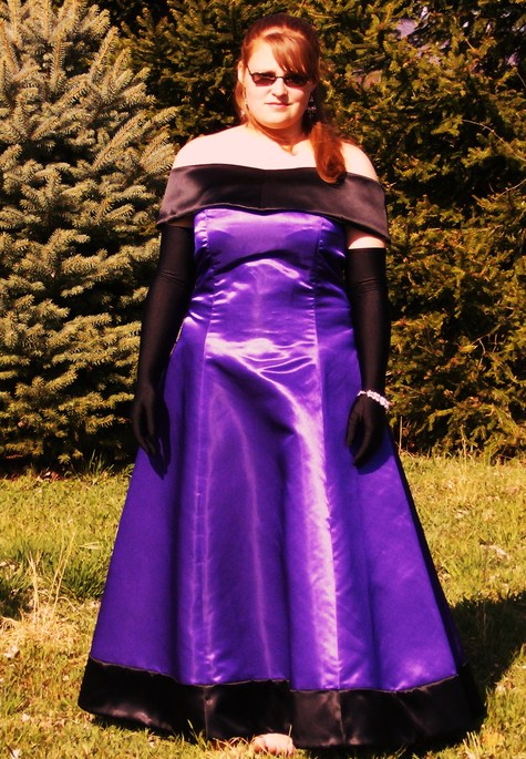 Classic Purple And Black Prom Dress 2007 Sewing Projects
