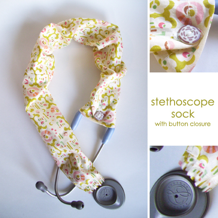 Stethoscope Sock With Button Closure Sewing Projects BurdaStyle Cool Stethoscope Cover Pattern