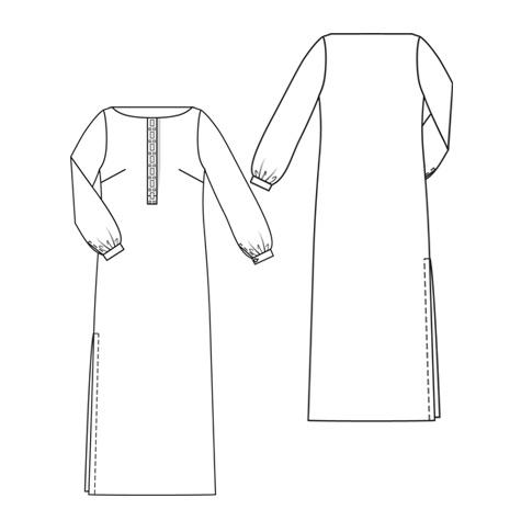 burda style magazine 1/2010 Long-sleeve Maxi Dress