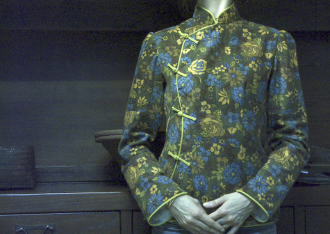 Green Flower China Blouse Sewing Projects Burdastyle