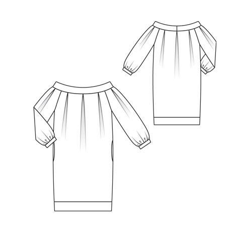 07/2010 Low shoulder puff dress