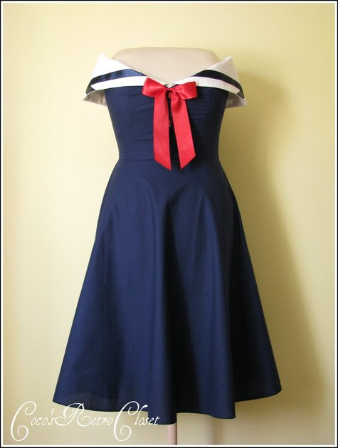 50\'s style Sailor Dress – Sewing Projects | BurdaStyle.com