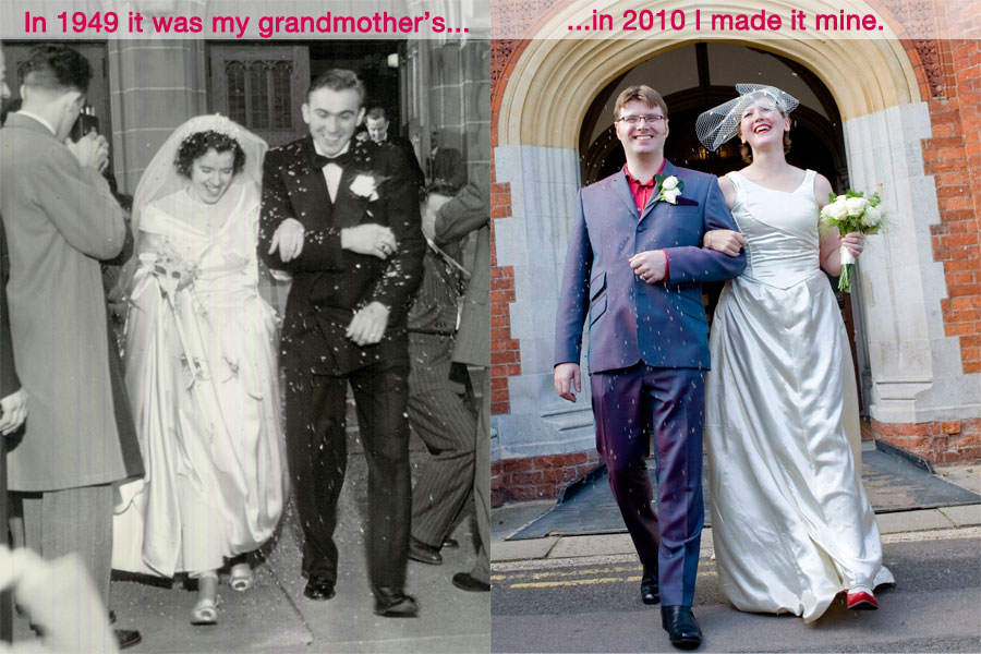 My refashioned 1940s vintage modern wedding gown – Sewing Projects ...