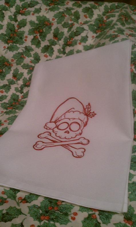 X-Mas Punk Dish Towel – Sewing Projects | BurdaStyle com