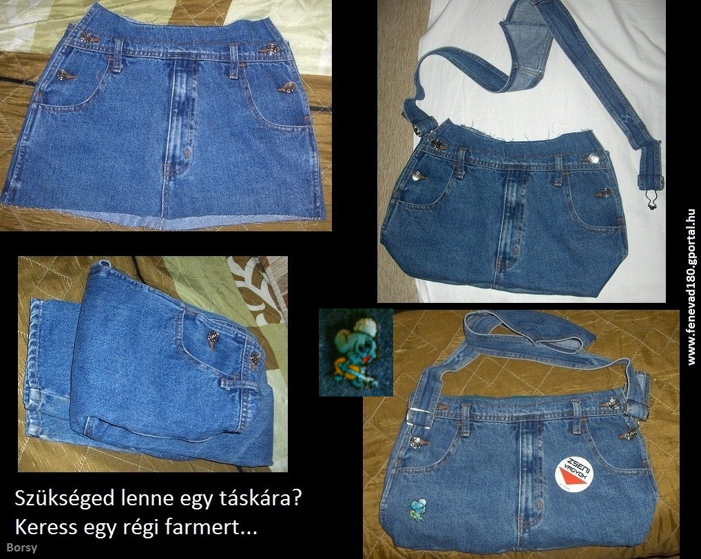 How To Make A Book Cover Out Of Old Jeans : Denim bag made by old jeans sewing projects