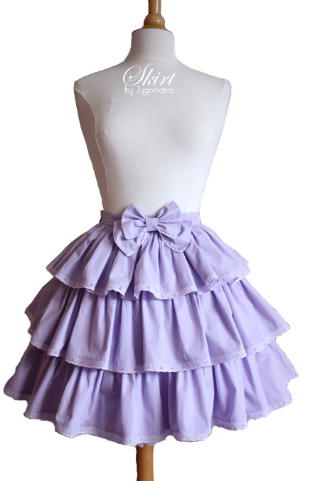 Sweet Lolita Lilac 3-Tiered Skirt – Sewing Projects | BurdaStyle.com