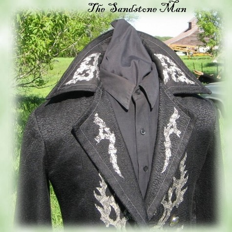 Black Gothic Trench Coat- Pirate Goth Steam punk – Sewing Projects ...