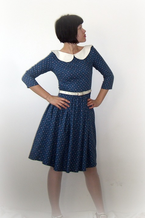 7ade1f6403a Cotton dress with Peter Pan collar – Sewing Projects