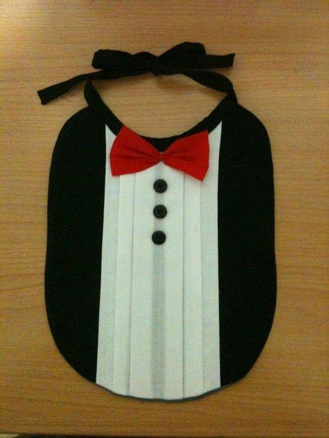 Baby Tuxedo Bib – Sewing Projects | BurdaStyle.com