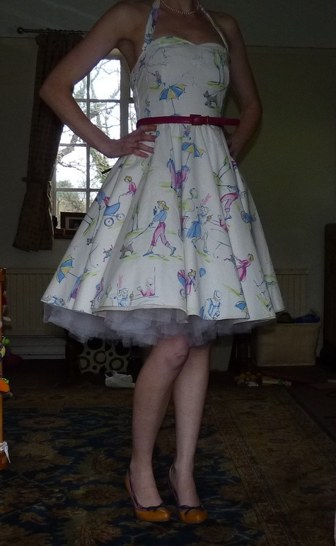 1950s Full Circle Swing Dress Sewing Projects Burdastyle